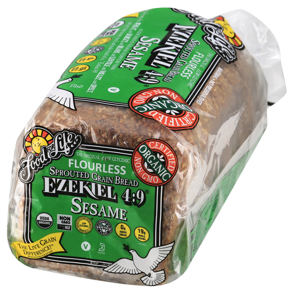 Food For Life Ezekiel 4 9 Sesame Sprouted Grain Bread Hy Vee Aisles Online Grocery Shopping