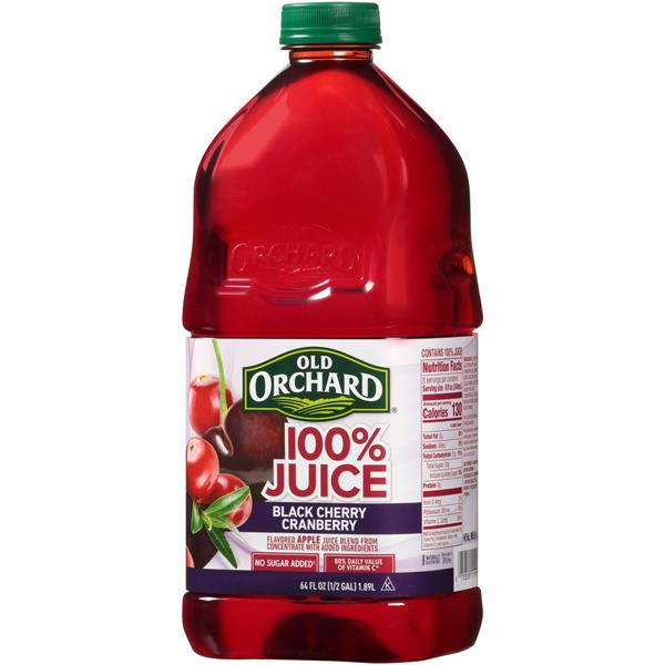 Old Orchard 100% Juice Black Cherry Cranberry