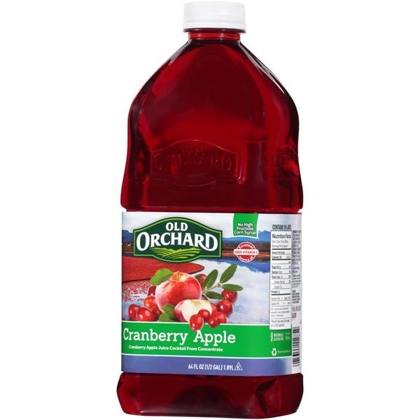 Old Orchard Cranberry Apple Juice Cocktail 64 fl. oz. Bottle