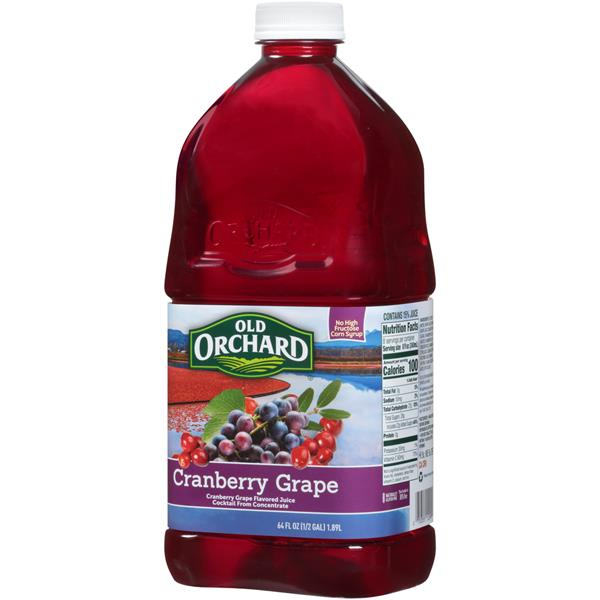Old Orchard Cranberry Grape Juice Cocktail 64 fl. oz. Bottle