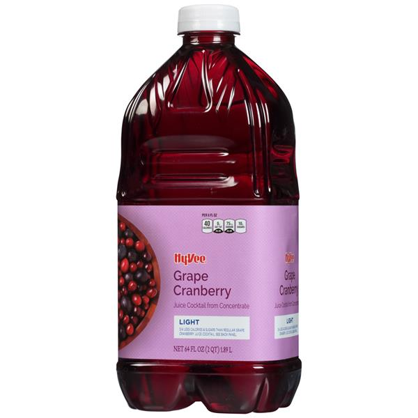 Hy-Vee Light Grape Cranberry Juice Drink