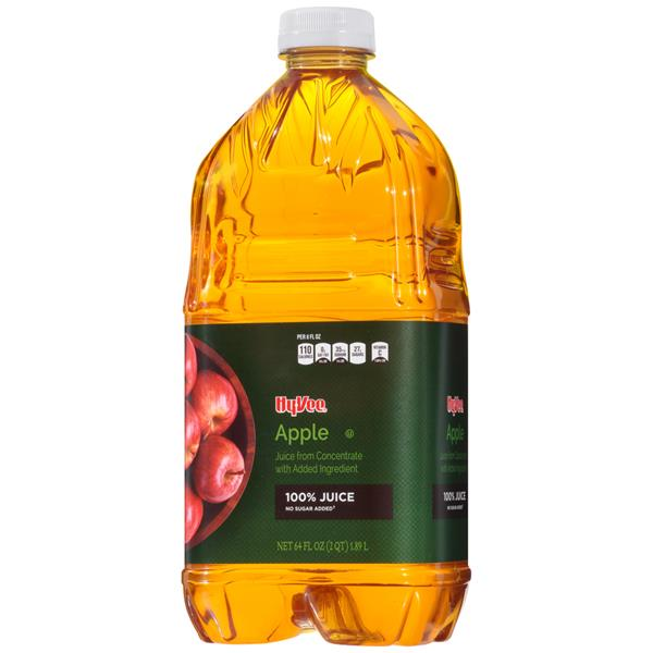 Hy-Vee 100% Apple Juice No Sugar Added