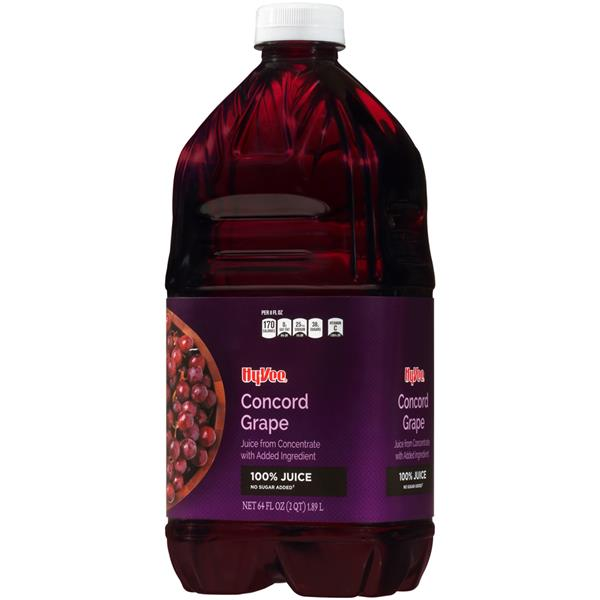 Hy-Vee 100% Concord Grape Juice, No Sugar Added