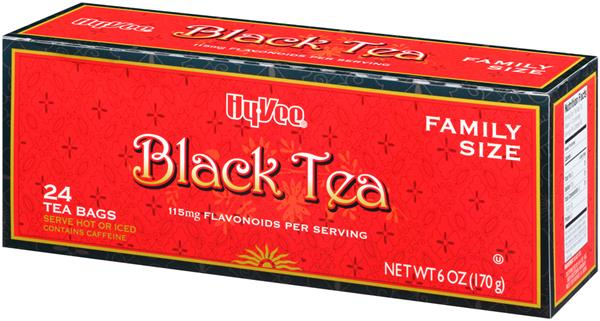 Hy-Vee Black Tea Family Size Tea Bags 24Ct