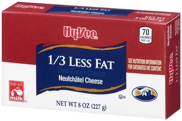 Hy-Vee 1/3 Less Fat than Cream Cheese (Neufchatel Cheese)