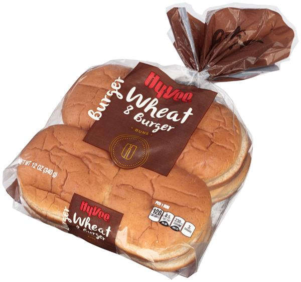 Hy-Vee Wheat Hamburger Buns 8Ct