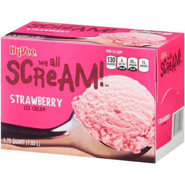Hy-Vee Strawberry Ice Cream