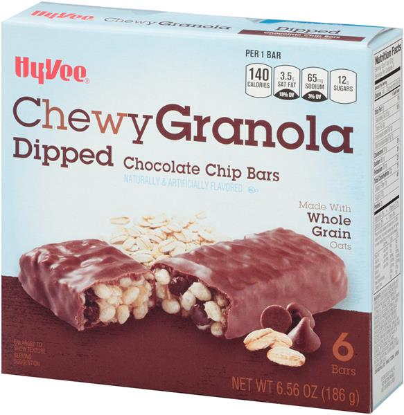 Hy-Vee Chewy Dipped Chocolate Chip Granola Bars 6Ct