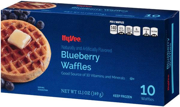 Hy-Vee Blueberry Waffles 10Ct