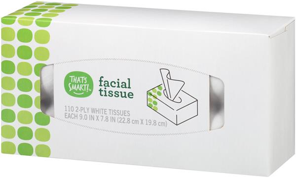 That's Smart! White 2-Ply Facial Tissue
