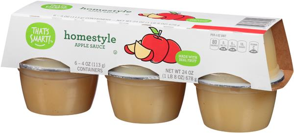 That's Smart! Homestyle Applesauce 6-4 oz Containers