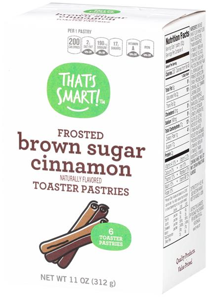 That's Smart! Frosted Brown Sugar Cinnamon Toaster Pastries 6CT