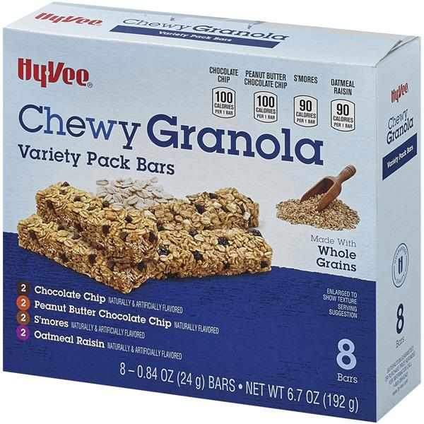 Hy-Vee Chewy Granola Variety Pack Bars 8-0.84 oz Bars