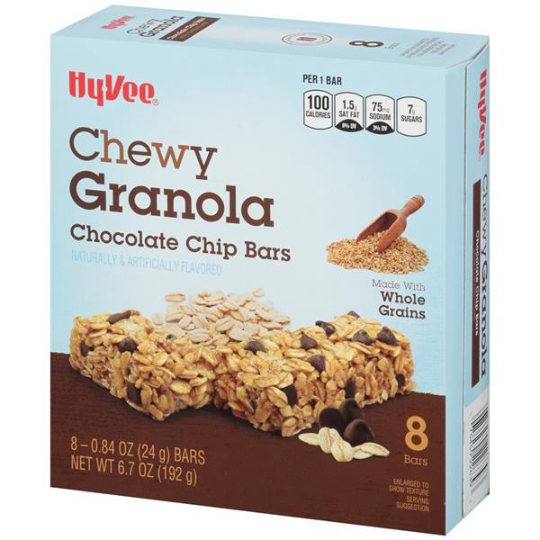 Hy-Vee Chewy Granola Chocolate Chip Bars