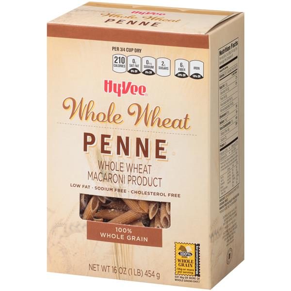 Hy-Vee 100% Whole Grain Whole Wheat Penne Pasta
