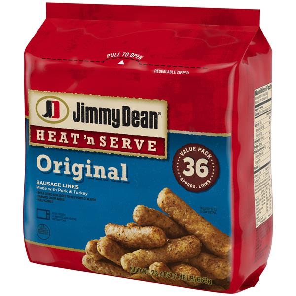 Jimmy Dean Heat 'n Serve Original Sausage Links 36 Count