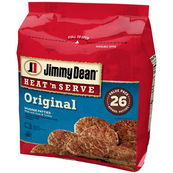 Jimmy Dean Heat 'n Serve Original Sausage Patties