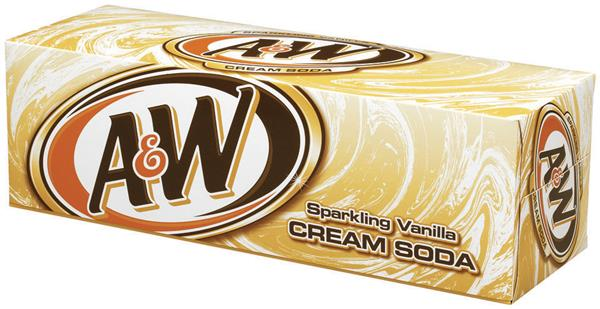 A&W Cream Soda 12 Pack