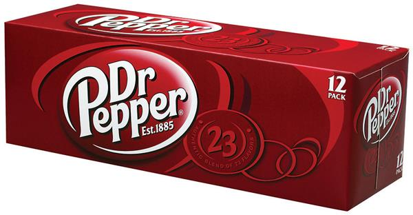Dr Pepper Soda 12 Pack