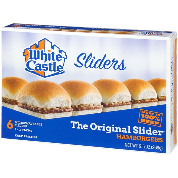 White Castle Microwaveable Hamburgers 6Ct