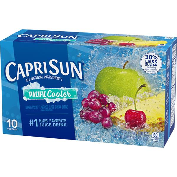 Capri Sun Pacific Cooler Drink Pouches 10 Pk