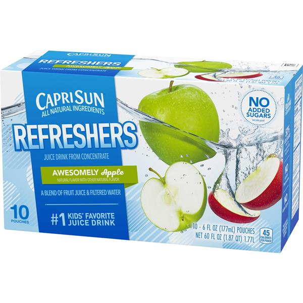 Capri Sun Fruit Refreshers  Awesomely Apple 10-6 fl oz Pouches