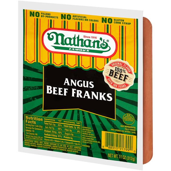 Nathan's Famous Angus Beef Franks
