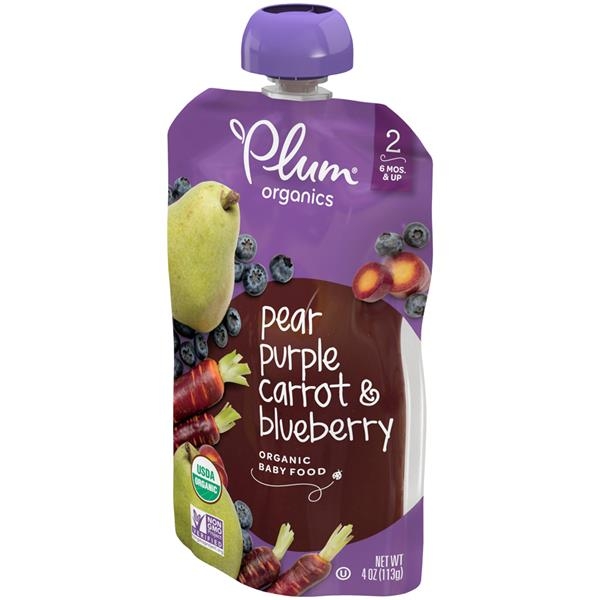 Plum Organics Stage 2 Blueberry, Pear & Purple Carrot