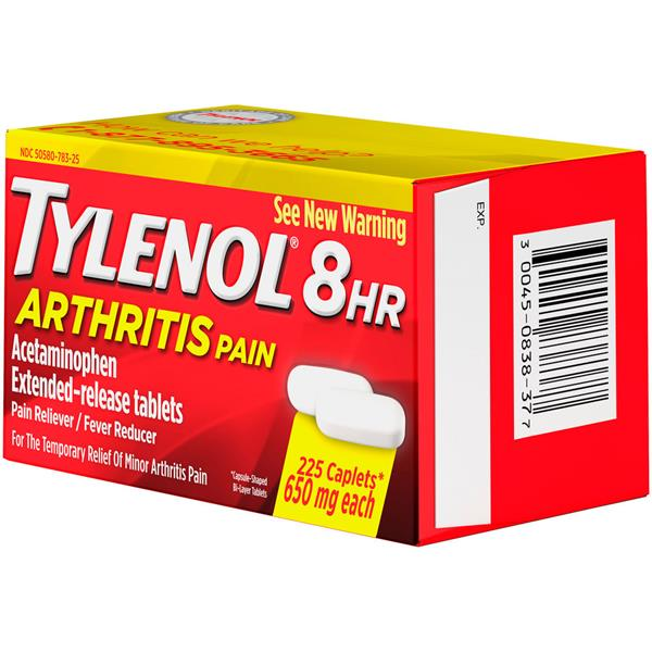Tylenol 8 HR Arthritis Pain Reliever/Fever Reducer Extended-Release Caplets 225 ct. Box