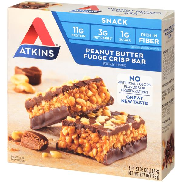 Atkins Day Break Peanut Butter Fudge Crisp Bars 5-1.23 oz Bars