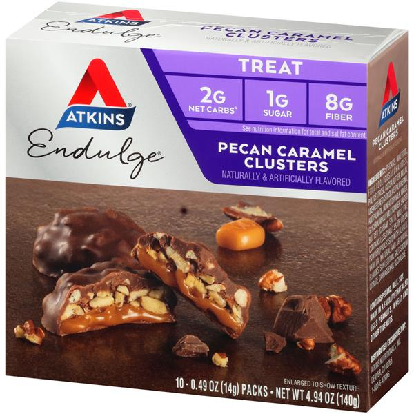 Atkins Endulge Pecan Caramel Clusters Treat 10-0.49 oz Packs
