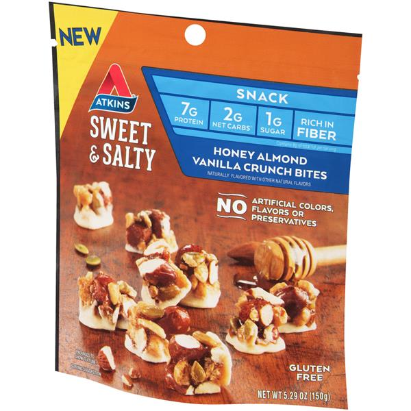 Atkins Sweet & Salty Honey Almond Vanilla Crunch Bites