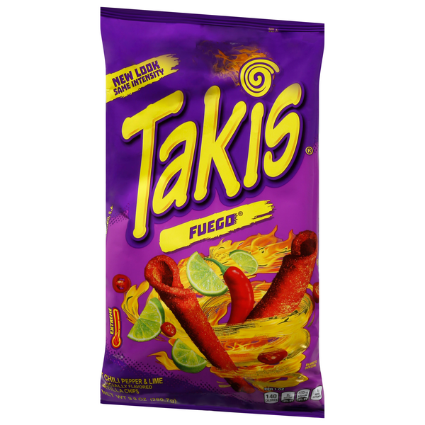 Barcel Takis Fuego Hot Chili Pepper & Lime Tortilla Chip