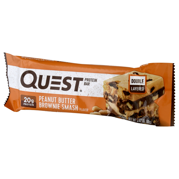 Quest Peanut Butter Brownie Smash Flavor Protein Bar